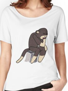 Sock Monkey Thinking Women's Relaxed Fit T-Shirt