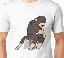Sock Monkey Thinking Unisex T-Shirt