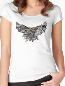 Night Owl in Color Women's Fitted Scoop T-Shirt