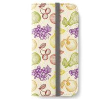 Retro fruits pattern iPhone Wallet/Case/Skin
