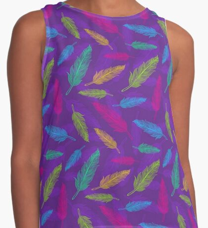 feathers pattern  Contrast Tank