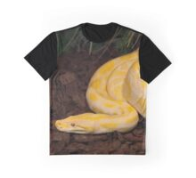 Yellow Burmese Python Graphic T-Shirt