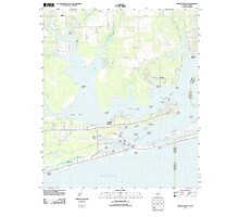 USGS TOPO Map Alabama AL Orange Beach 20110930 TM Photographic Print