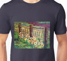 De-Fence of Flowers............. Unisex T-Shirt