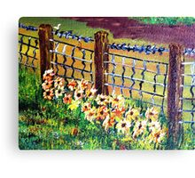 De-Fence of Flowers............. Canvas Print