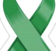 Green Awareness Ribbon of Support Sticker