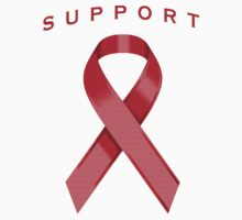 Red Awareness Ribbon of Support by adamcampen
