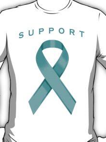 Teal Awareness Ribbon of Support T-Shirt