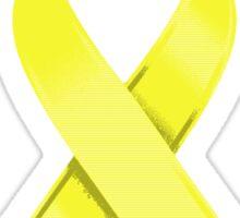 Yellow Awareness Ribbon of Support Sticker