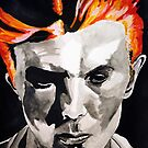 David Bowie Thin White duke portrait by Sarah Horsman