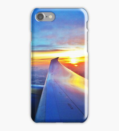 United Airlines 787 sunrise  iPhone Case/Skin