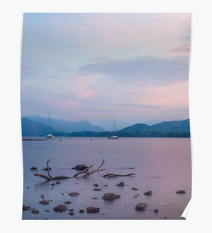 Pastel Ullswater Sunset Poster