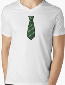 Slytherin Tie  Mens V-Neck T-Shirt