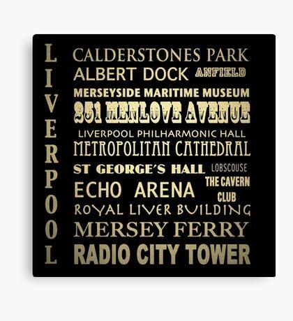 Liverpool Famous Landmarks Canvas Print
