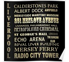 Liverpool Famous Landmarks Poster