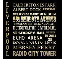 Liverpool Famous Landmarks Photographic Print