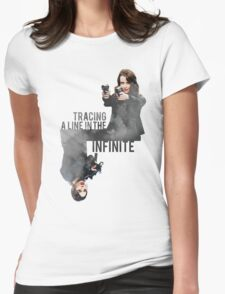 Tracing A Line In The Infinite (Person of Interest) Womens Fitted T-Shirt