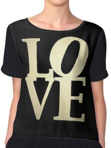 Love Park Philadelphia Sign Chiffon Top