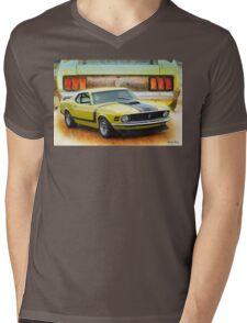1970 Boss 302 Mustang Mens V-Neck T-Shirt