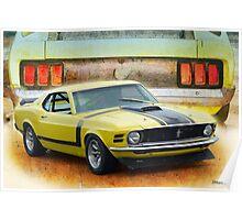 1970 Boss 302 Mustang Poster