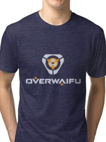 Overwaifu - Tracer (Glow) Tri-blend T-Shirt