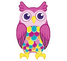 Big Colorful Owl Photographic Print