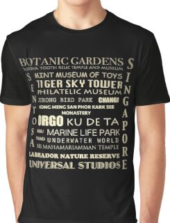 Singapore Japan Famous Landmarks Graphic T-Shirt
