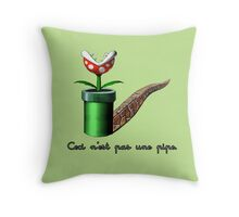 Super Mario for Magritte  Throw Pillow
