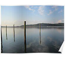 Dock Pylon Reflections by Respite Artwork Poster