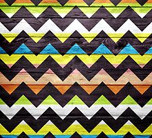 Chevron Pattern on Wood Texture by Nhan Ngo