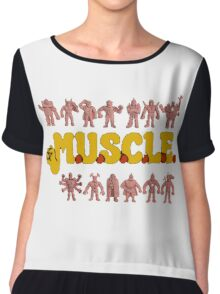 M.U.S.C.L.E Muscleman Muscle men Chiffon Top