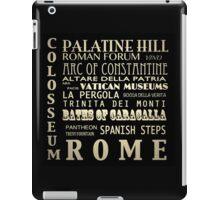 Rome Italy Famous Landmarks iPad Case/Skin