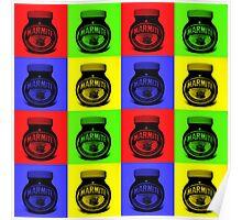 Marmite on Colour Small Poster