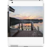 Sunset on the boat slip 2 by Respite Artwork iPad Case/Skin