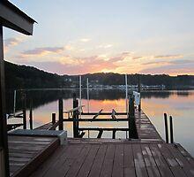 Sunset on the boat slip 2 by Respite Artwork by Respite-Artwork