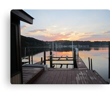 Sunset on the boat slip 2 by Respite Artwork Canvas Print
