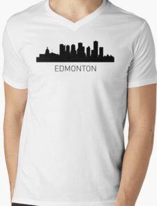 Edmonton Alberta Cityscape Mens V-Neck T-Shirt