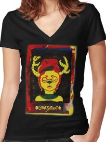 Fawn Girl Women's Fitted V-Neck T-Shirt