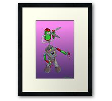 Robotic Classroom Apparition Framed Print