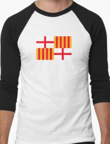 Flag of Barcelona  Men's Baseball ¾ T-Shirt