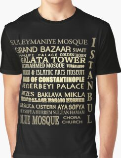 Istanbul Turkey Famous Landmarks Graphic T-Shirt