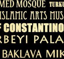 Istanbul Turkey Famous Landmarks Sticker
