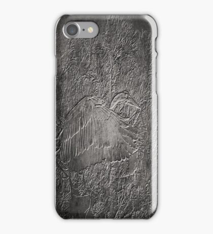 Embossed Great Blue Heron iPhone Case/Skin