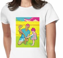 polkadot snake Womens Fitted T-Shirt