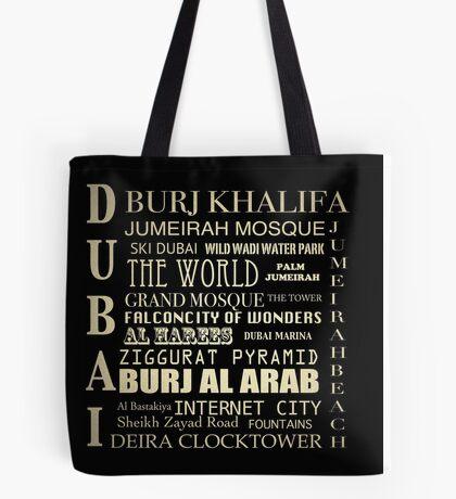 Dubai Famous Landmarks  Tote Bag