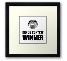 Dance Contest Winner Framed Print