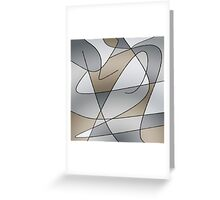 ABSTRACT CURVES-2 (Greys & Beiges)-(9000 x 9000 px) Greeting Card