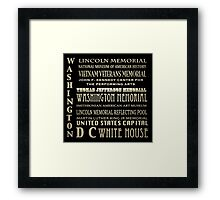 Washington DC Famous Landmarks Framed Print