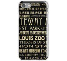 St. Louis Missouri Famous Landmarks iPhone Case/Skin