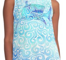 Swirly Shark Contrast Tank